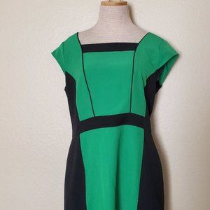 ILE New York Green Black Work Dress 10